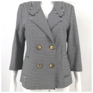 Cabi Life Jacket Nautical Stripe Blazer M